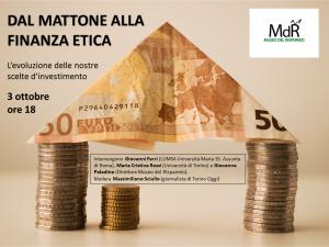 Locandina Dal mattone alla finanza etica