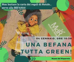 Natale al Museo - Una Befana tutta GREEN 04 gennaio, ore 10_30