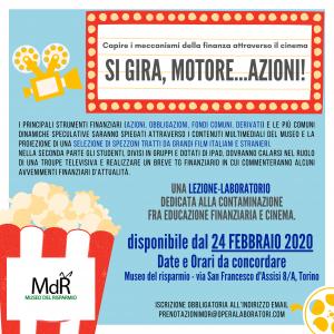 cinema ed educazione finanziaria - locandina SI GIRA, MOTORE...AZIONI
