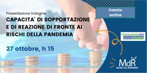 copertina CAPACITA' DI SOPPORTAZIONE E DI REAZIONE DI FRONTE AI RISCHI DELLA PANDEMIA