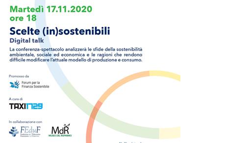 """Conferenza-spettacolo """"Scelte IN-sostenibili"""""""